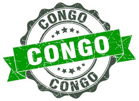 Congo: Congo round ribbon seal Illustration