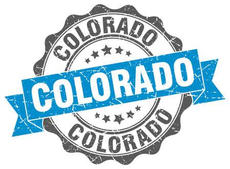 colorado: Colorado round ribbon seal Illustration