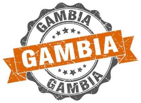 gambia: Gambia round ribbon seal