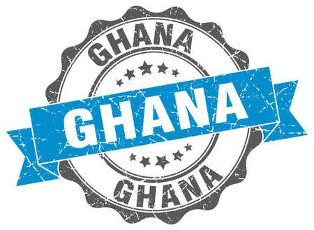 Ghana: Ghana round ribbon seal Illustration