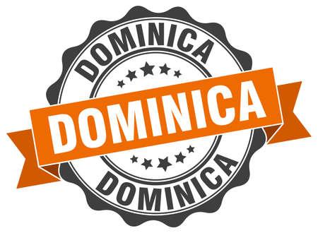 dominica: Dominica round ribbon seal Illustration