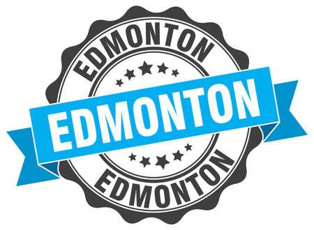 edmonton: Edmonton round ribbon seal Illustration
