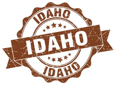 Idaho round ribbon seal Illustration
