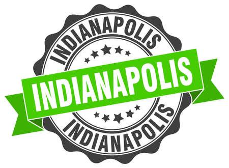 indianapolis: Indianapolis round ribbon seal