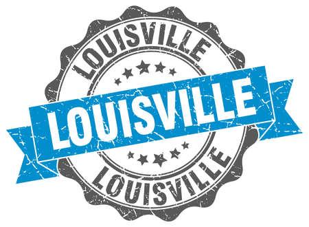 louisville: Louisville round ribbon seal Illustration