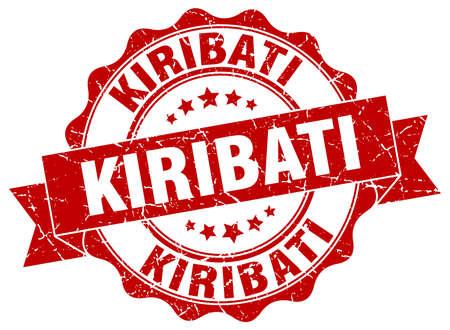 kiribati: Kiribati round ribbon seal