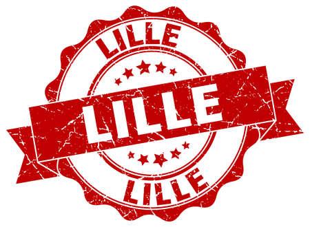 lille: Lille round ribbon seal Illustration