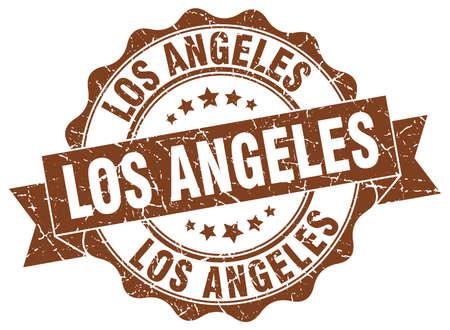 Los Angeles round ribbon seal