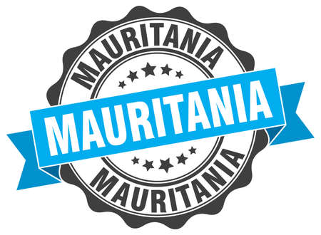 mauritania: Mauritania round ribbon seal