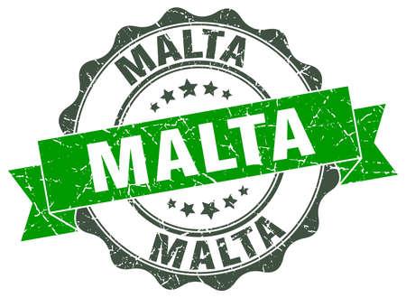 malta: Malta round ribbon seal