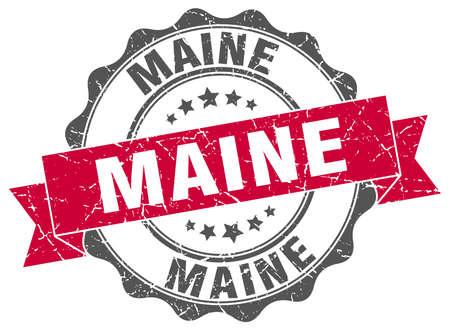 Maine round ribbon seal