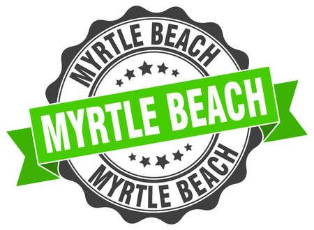 myrtle beach: Myrtle Beach round ribbon seal