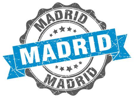 madrid: Madrid round ribbon seal