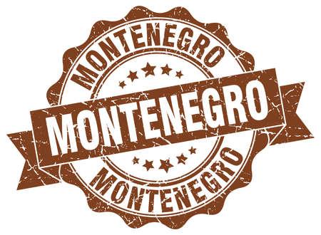 Montenegro round ribbon seal