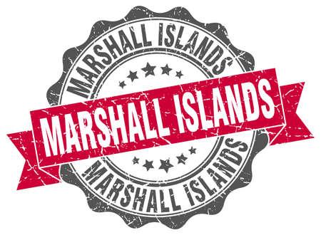 marshall: Marshall Islands round ribbon seal