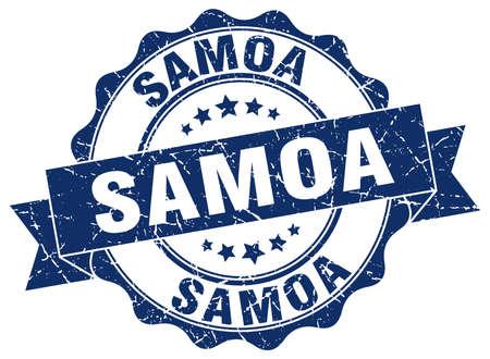 samoa: Samoa round ribbon seal Illustration