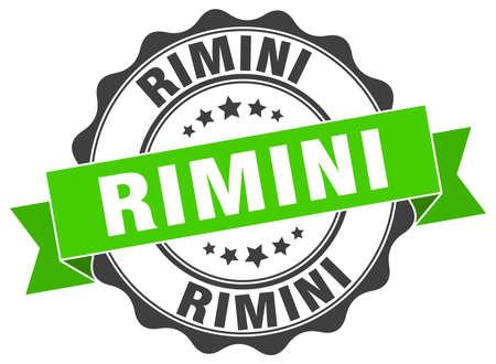 Rimini round ribbon seal Illustration