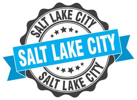 salt lake city: Salt Lake City round ribbon seal