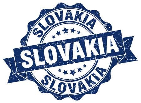 リボンのシール ラウンド スロバキア
