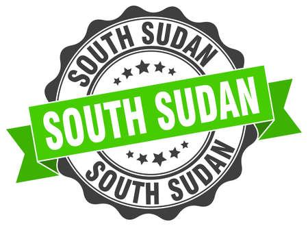 South Sudan round ribbon seal Illustration