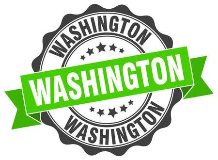 dc: Washington round ribbon seal Illustration