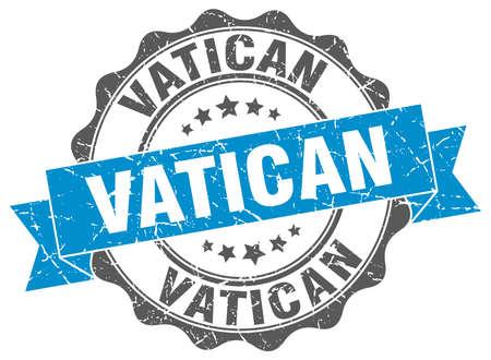 vatican: Vatican round ribbon seal Illustration
