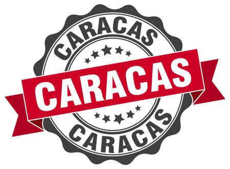 caracas: Caracas round ribbon seal Illustration