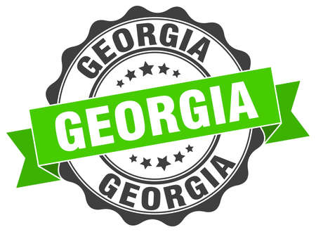 georgia: Georgia round ribbon seal