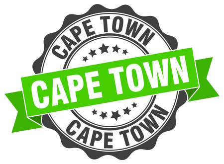 Cape Town round ribbon seal Illustration