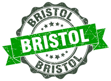 bristol: Bristol round ribbon seal Illustration
