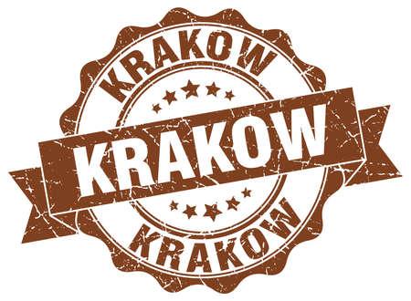 Krakow round ribbon seal
