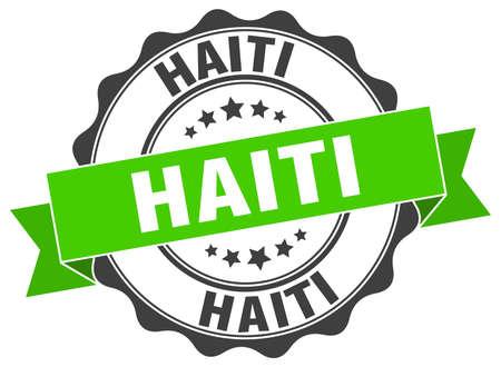 haiti: Haiti round ribbon seal