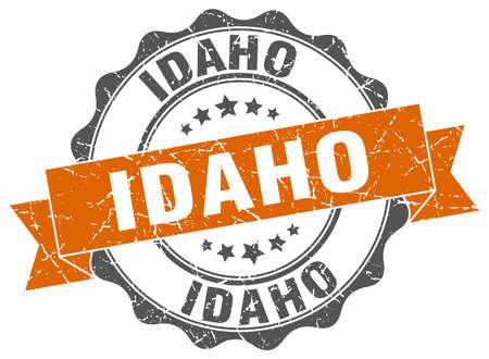 idaho: Idaho round ribbon seal Illustration