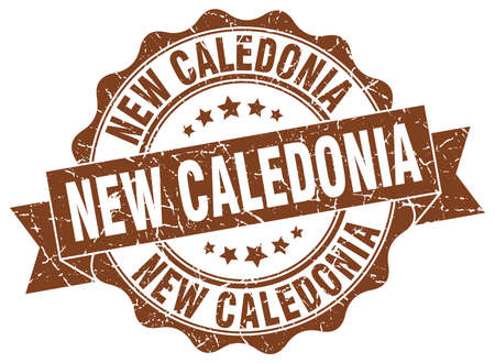 New Caledonia round ribbon seal