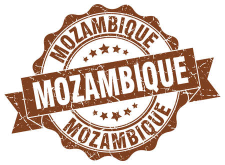 Mozambique round ribbon seal Illustration