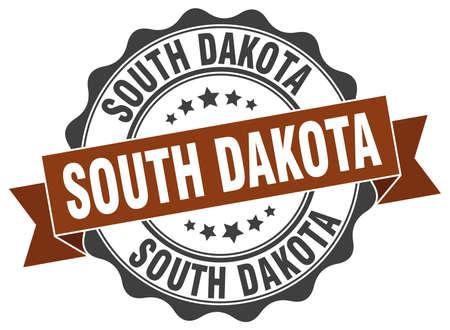 dakota: South Dakota round ribbon seal Illustration