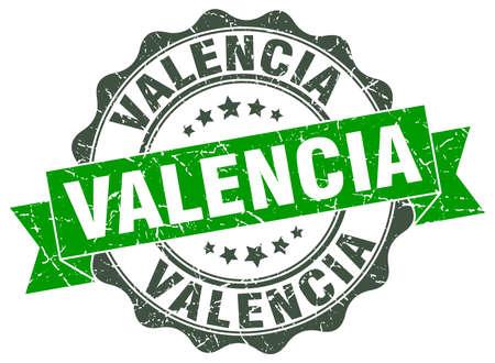 Valencia round ribbon seal Illustration