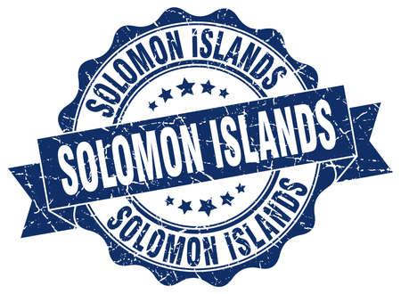 solomon: Solomon Islands round ribbon seal Illustration