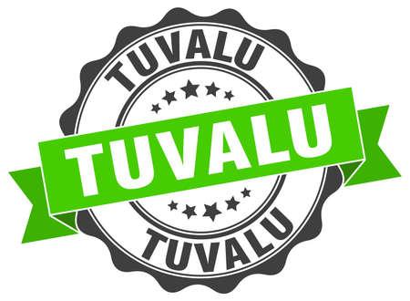 tuvalu: Tuvalu round ribbon seal