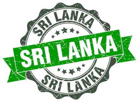 Sri Lanka round ribbon seal
