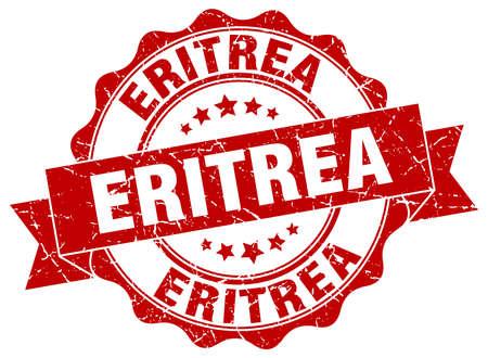 eritrea: Eritrea round ribbon seal