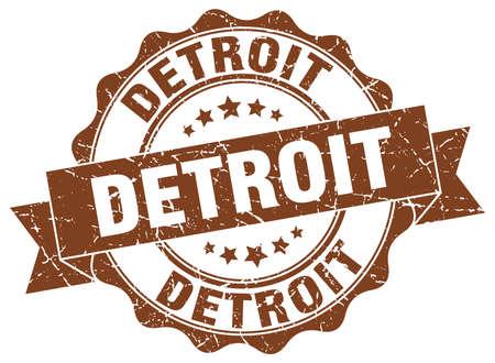 detroit: Detroit round ribbon seal