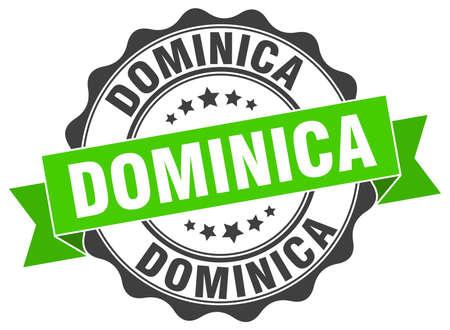 Dominica round ribbon seal Illustration