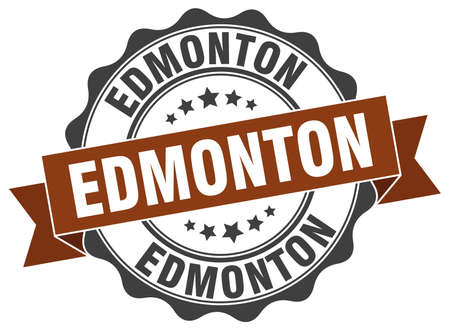 edmonton: Edmonton round ribbon seal Illustration