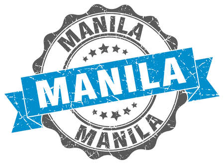 manila: Manila round ribbon seal Illustration
