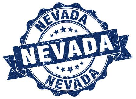 Nevada round ribbon seal Illustration