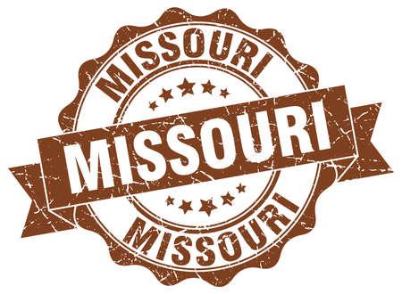 missouri: Missouri round ribbon seal