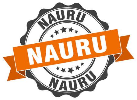 Nauru round ribbon seal