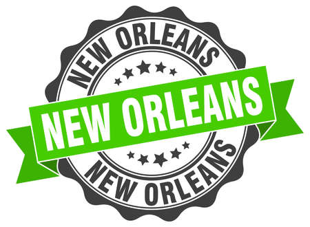 New Orleans round ribbon seal Illustration