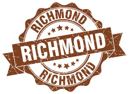 Richmond round ribbon seal Illustration